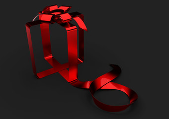 black ribbon gift