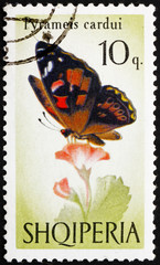 Postage stamp Portugal 1966 Painted Lady, Butterfly, Pyrameis Ca