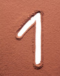 Number 1 made of cocoa powder