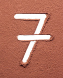 Number 7 made of cocoa powder