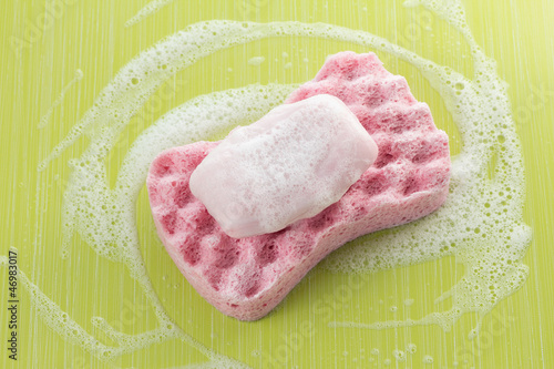 Bath sponge and soap