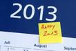 2013, Jahreswechsel, Neujahr, Silvester, Happy 2013, Kalender