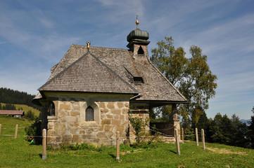 Schöne Kapelle Hochälple, Bregenzerwald, Österreich