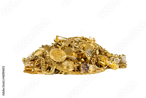 Pile of Gold Jewelry