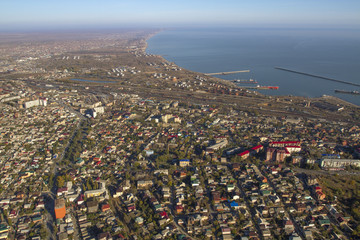 aerial view of Makhachkala Dagestan Russia
