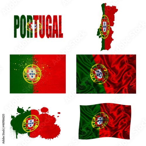 Portuguese flag collage