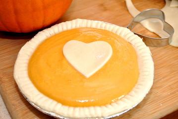 Uncooked Pumpkin Pie