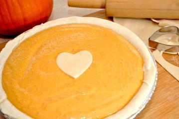 Pumpkin Pie with Heart