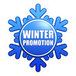 winter promotion snowflake label