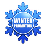 winter promotion snowflake label poster