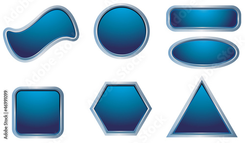 Blank Dark-blue web buttons for website or app. Vector eps10