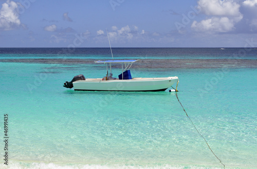 Boat in the Caribbean.
