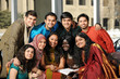 Group of Diverse College Students wearing their traditional atti