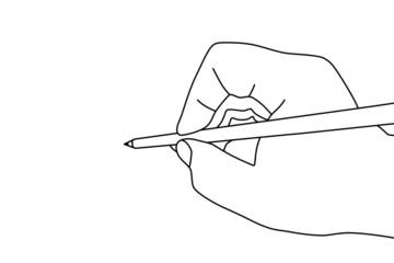 鉛筆を持った手のイラスト