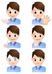 男性 表情