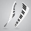 Piano keys, vector illustration