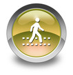 "Yellow Glossy Pictogram ""Pedestrian Crossing"""