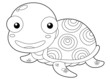 illustration of Cartoon turtle outline
