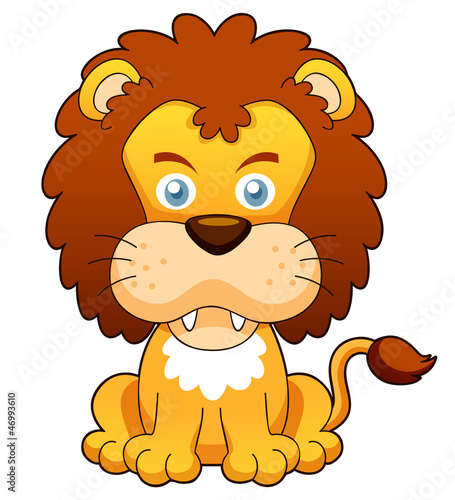 illustration of Cartoon lion vector