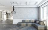 Fototapety Grey Sofa in Big Living Room