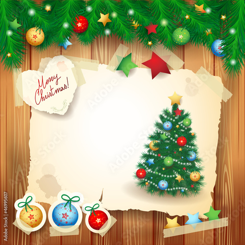 Chistmas card with copyspace