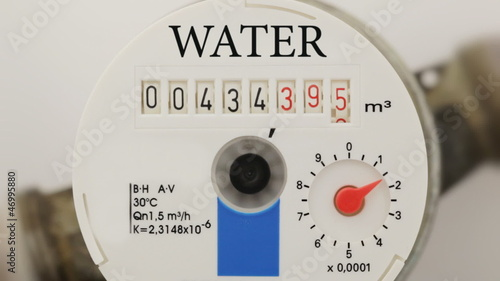 Water meter, close up
