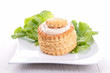 puff pastry and salad