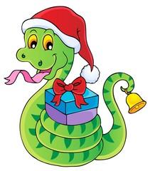 Christmas snake theme image 1