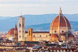 Fototapety Florence, Duomo and Giotto's Campanile.