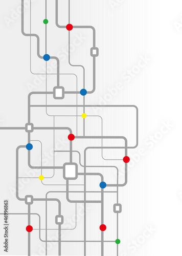 回路イメージの背景素材