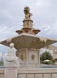 The monumental fountain in Mola di Bari in Apulia in Italy poster