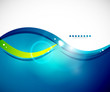 Detailed blue wavy vector abstract background