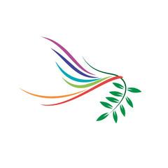 Vector logo Peace