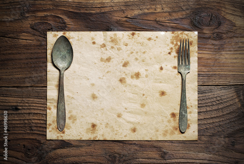 Old Paper Place Setting, old style