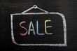 Sale written blackboard