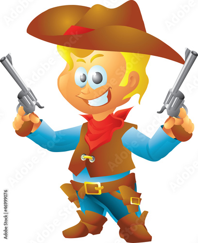 Fotobehang Wild West Small cowboy