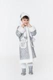 Little girl wearing snow-maiden fancy dress