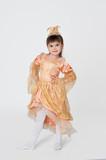 Little girl in princess fancy dress for carnival