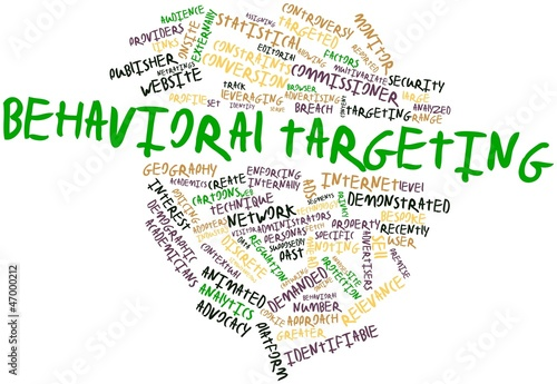 Word cloud for Behavioral targeting