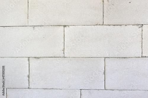 White block wall autoclaved concrete - 47000288