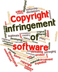 Word cloud for Copyright infringement of software