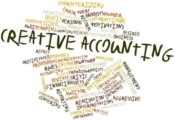 Word cloud for Creative accounting