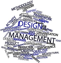 Word cloud for Design management