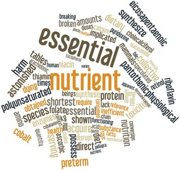 Word cloud for Essential nutrient