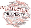 Leinwandbild Motiv Word cloud for Intellectual property