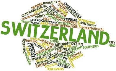 Word cloud for Switzerland