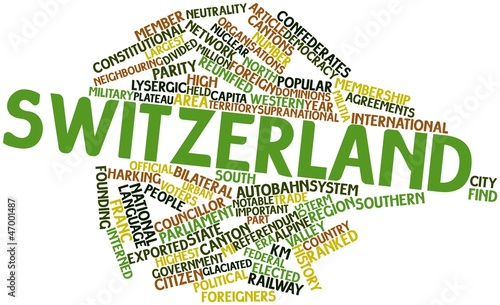 Word cloud for Switzerland