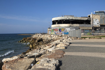 Ruins of building - discotheque  Dolphinarium. Tel Aviv Israel