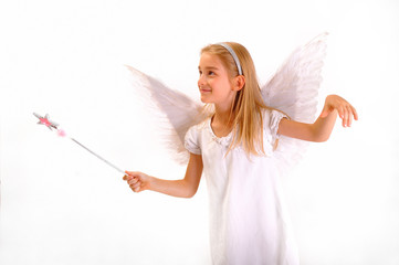 Angel with a magic wand