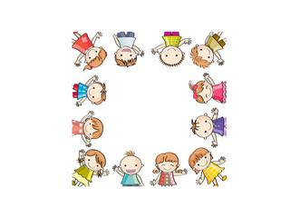 笑顔の子供たち(四角に切り抜き)